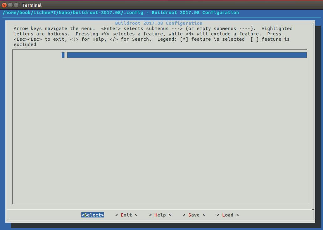 buildroot-menuconfig