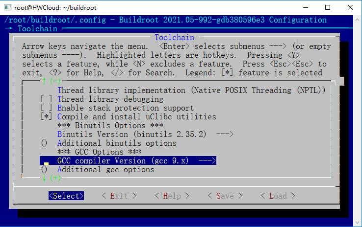 buildroot-gcc-version.jpg