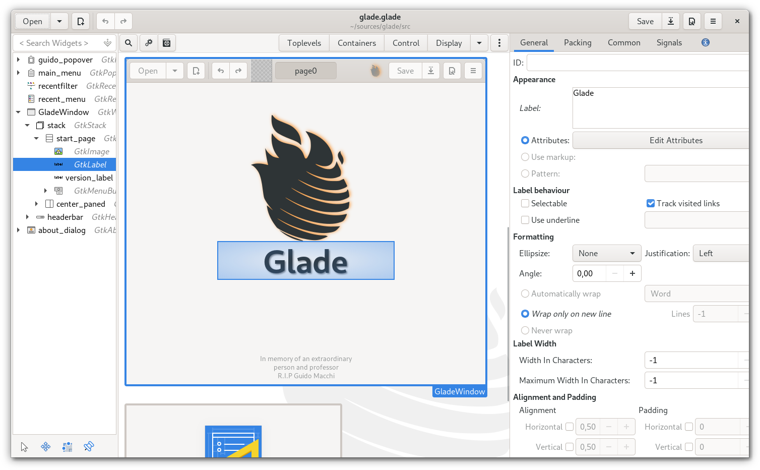 glade-main-page