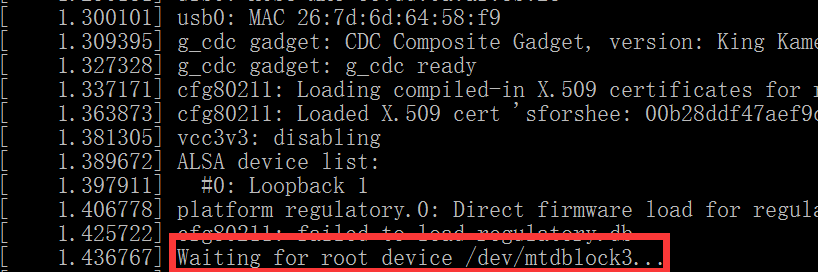 Waiting for root device /dev/mtdblock3...