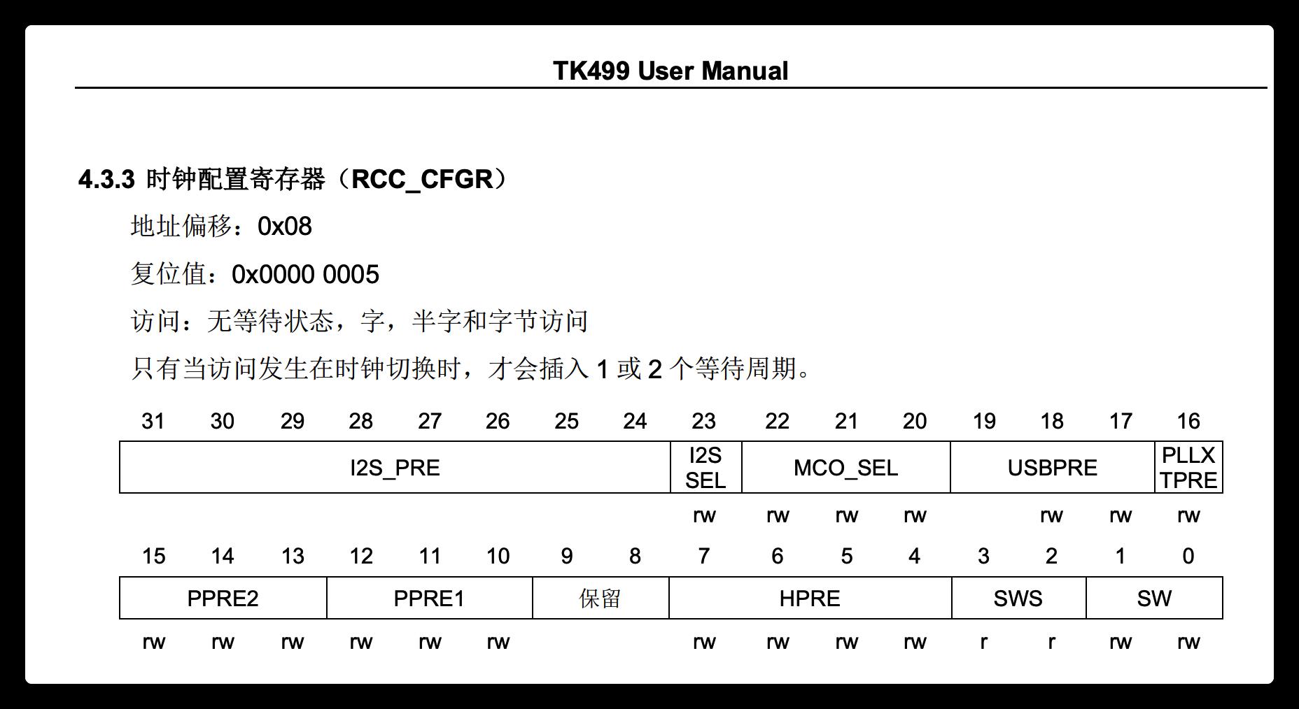 tk499 rcc cfgr